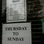Opening hours in low season.
