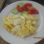 Breakfast ( eggs, cheese and veggies)
