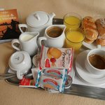 good breakfast brought to your room