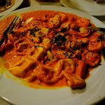 Tortellini with salmon sauce. Yummy!