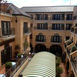 View from room over inner courtyard