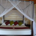  king size bed in sangu water villa