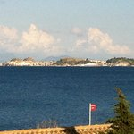  view across bay to Corfu Town