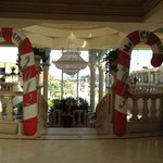  Christmas decorations in the lobby