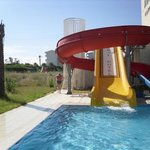 pool slide in the aral
