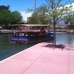 tour guided riverboat.