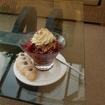 Cranachan Desert enjoyed in the conservatory
