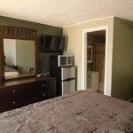 Newly remodeled rooms with new furniture.