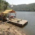 La Capitana Pontoon Boat on Lake Benque