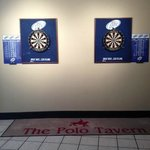Steel tipped regulation dart boards in the Polo Tavern
