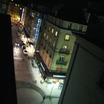  view from a balcony at night