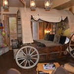 The Wagon Wheel room bed! Yee haw!