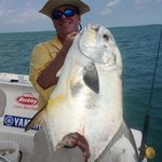  Trophy Permit fish, bit by a Hammer Head Shark just feet of the boat!