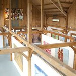  art show in barn