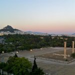 view from rooftop Bar/ breakfast area (temple of Zeus)