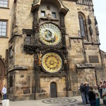 The Astronomical Clock right around the corner from Hotel Rott