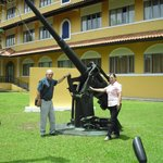  En el jardin del hotel Melia Panama Canal
