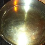 "A ""clean"" pan on the stove"