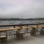 Eating over Tomales Bay