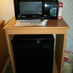 Microwave and Mini-Fridge