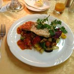 Chicken with roast vegetables