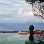 Enjoying the view from the infinity pool.