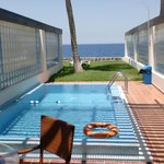 View of Red Sea from villa over private pool