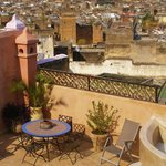  Rooftop terrace and view of Medina