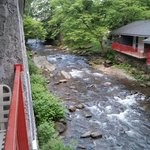 A view from our balcony at Zoders Inn in Gatlinburg...it's very relaxing listening to the stream
