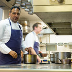Michael Caines in the kitchen