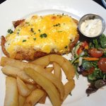 Parmo ! Get salad & chips separate - gorgeous!