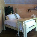 Queen Custom Made Bed in Yellow Cottage