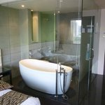  The glass walled bathroom in my executive room