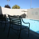  Outdoor seating in the pool area