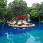 The lagoon style swimming pool