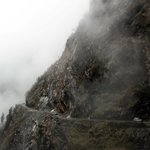 Road to Changu... foggy weather and narrow passage