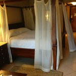 Honeymoon Deluxe Room (basic room). The bed was soooo comfy and the canopy made an awesome ambia