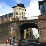 The Tower Hotel and Derry walls/Butcher Gate