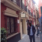  Front of Hotel Murillo showing very narrow street