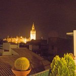 Night view from Rooftop Terrace Bar at Hotel Murillo