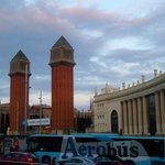 Placa Espanya from Bus Turistic