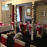 The private dining room we were able to decorate