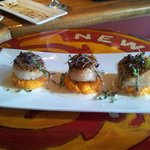Scallops with sweet potato puree base...too good for words!