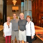  My family in the lobby