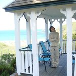 Lovely Gazebo to sit and watch the ocean