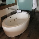  huge tub in room!