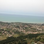  vue du mont surplombant Sciacca et l htel