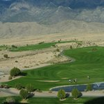 View from room of golf course & Sandia Mts.