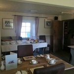 ample choice and friendly breakfast room