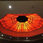  The octagon bar, lovely ceiling